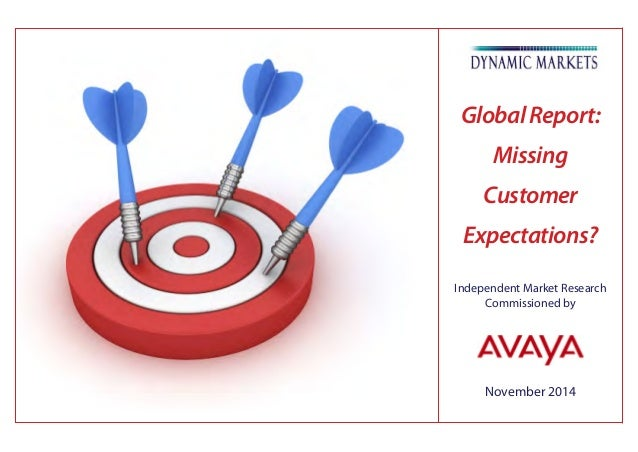 November 2014 Independent Market Research Commissioned by GlobalReport: Missing Customer Expectations?