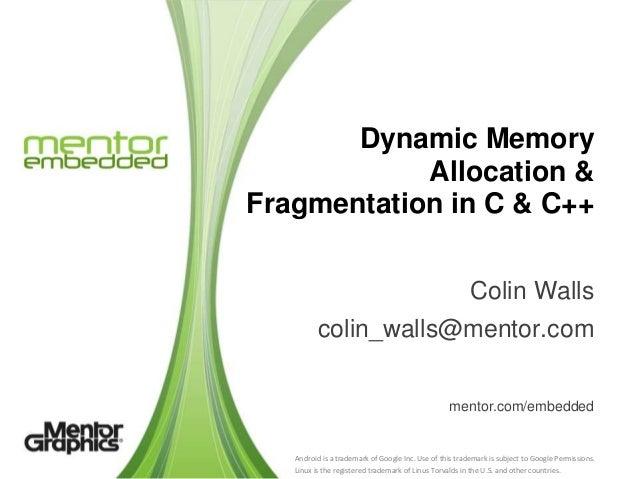 Dynamic Memory Allocation Fragmentation In C C
