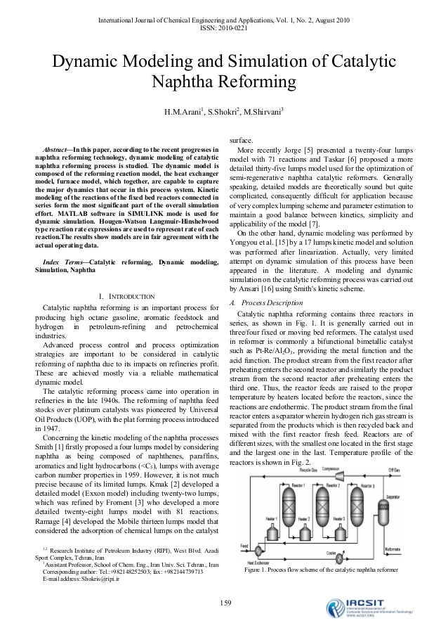 International Journal of Chemical Engineering and Applications, Vol. 1, No. 2, August 2010                                ...