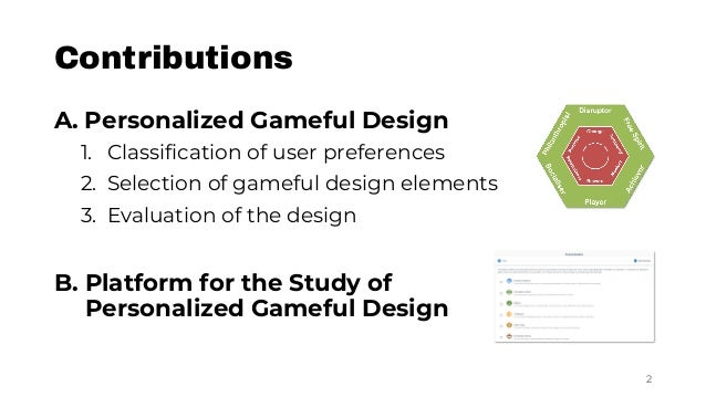 Dynamic Personalization of Gameful Interactive Systems Slide 2
