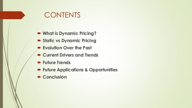 Dynamic Pricing: Past, Present, and Future Slide 2