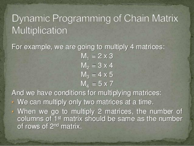 Matrix chain multiplication dynamic programming example