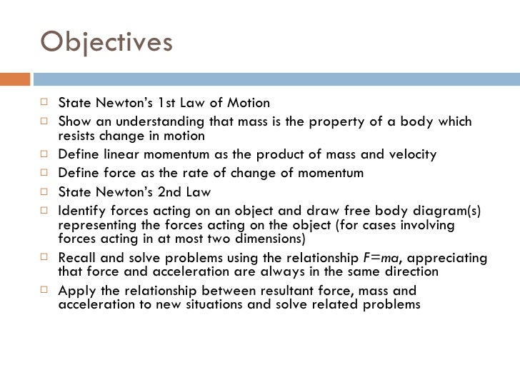 Dynamics 2  - Newton's 1st and 2nd Laws of Motion Slide 2