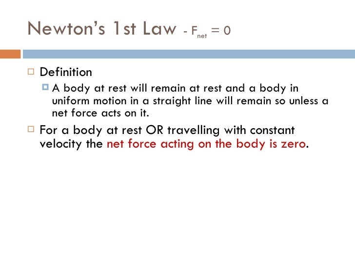 Dynamics 2  - Newton's 1st and 2nd Laws of Motion Slide 3