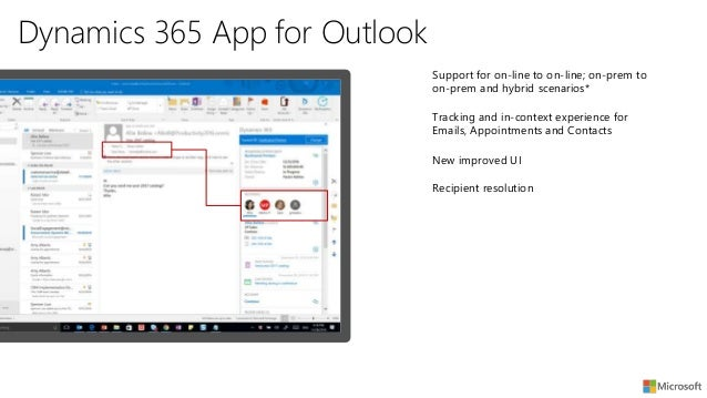 Microsoft Dynamics 365 App for Outlook