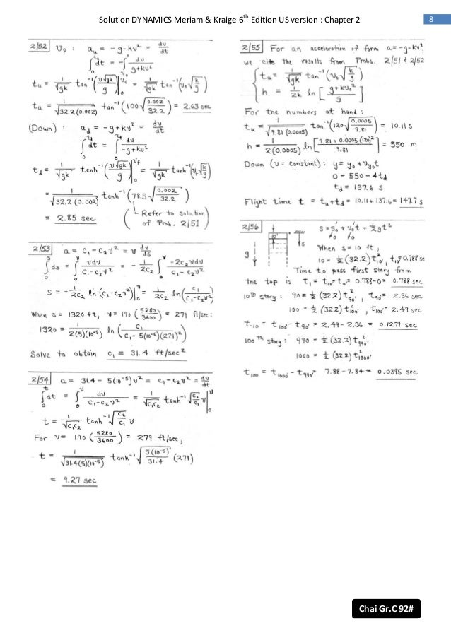 engineering mechanics dynamics fifth edition solution