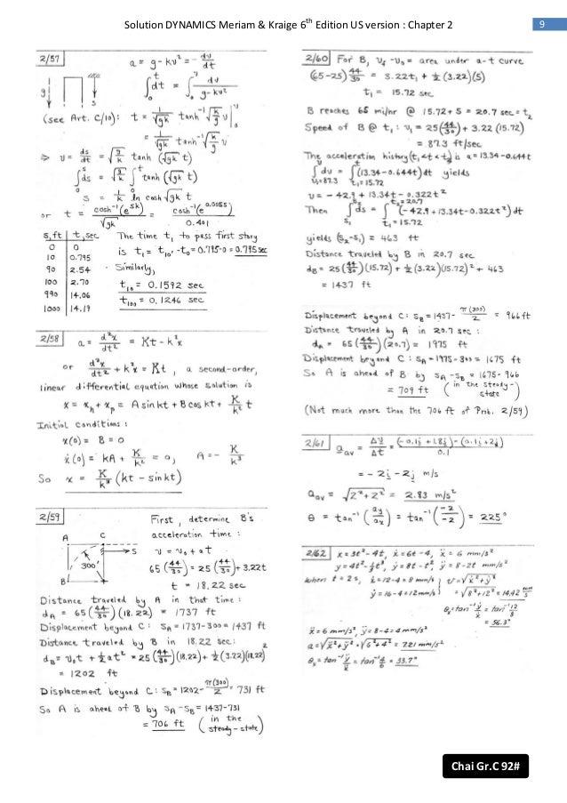 Engineering mechanics dynamics 6th edition solution manual meriam.