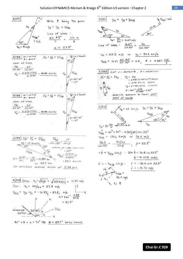 meriam kraige statics solutions pdf