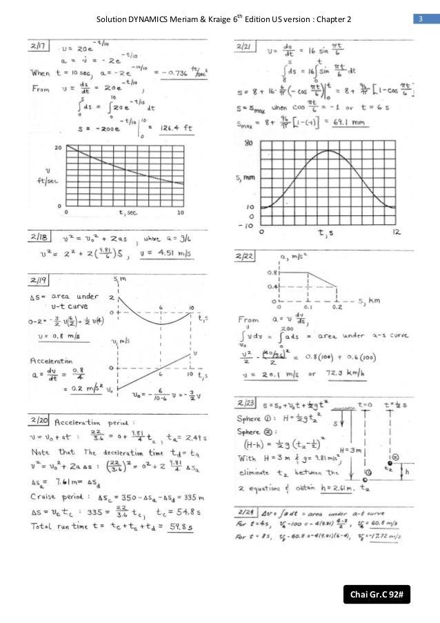 dynamics 6th ed meriam solution rh slideshare net