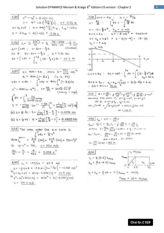 Engineering mechanics dynamics, 6th edition.