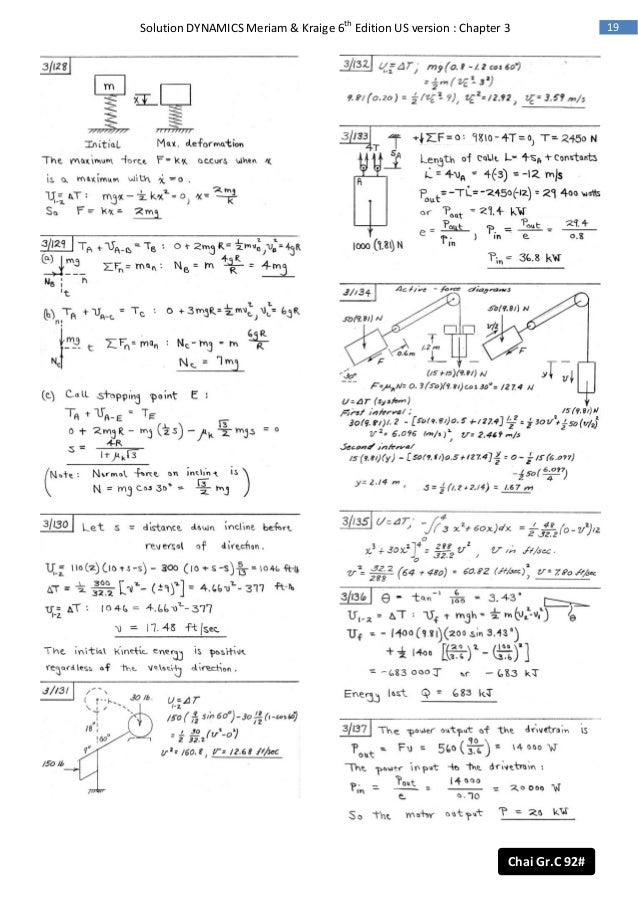Dynamical solution pdf