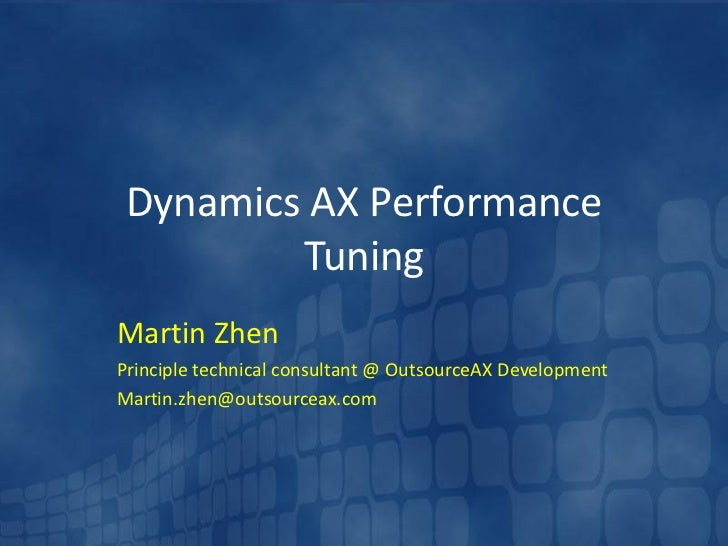 performance tuning crm async service Performance tuning and optimization is a continuous balancing act between design decisions and resource availability single-server configuration, with microsoft dynamics crm server 2011, sql server, sql server reporting services, and optionally, microsoft exchange back end server (crm async service.