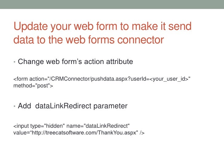 Configuring DataConnect to upload web form submissions to
