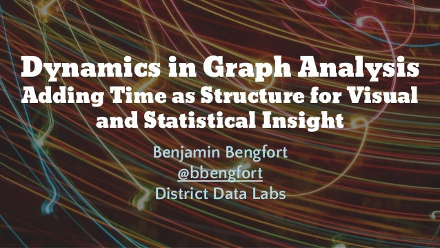 Dynamics in Graph Analysis Adding Time as Structure for Visual and Statistical Insight Benjamin Bengfort @bbengfort Distri...