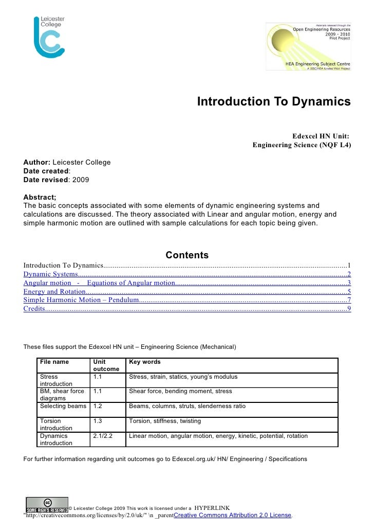 Introduction To Dynamics                                                                                                  ...
