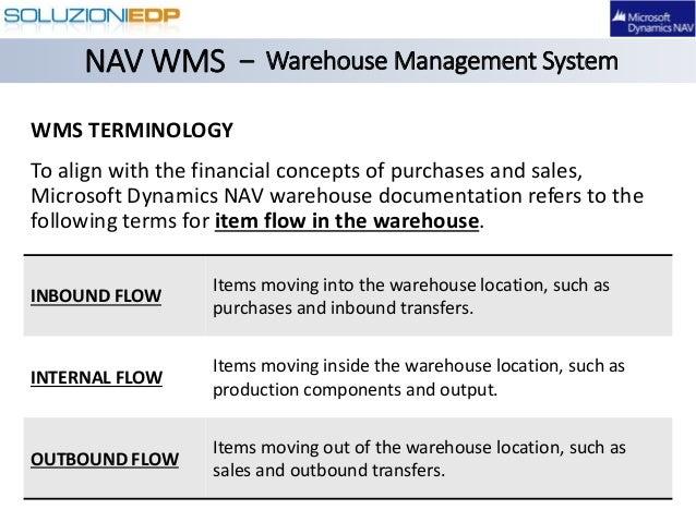 Dynamics NAV Warehouse Management System (WMS)