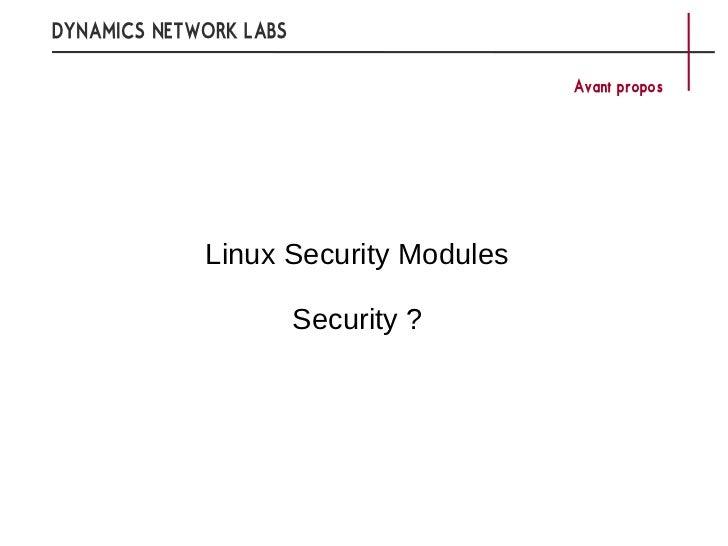 Les mécanismes de contrôle d'accès du kernel linux