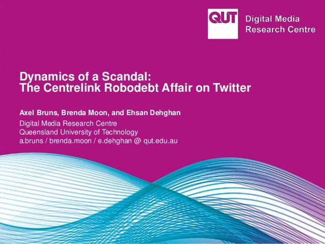 Dynamics of a Scandal: The Centrelink Robodebt Affair on Twitter Axel Bruns, Brenda Moon, and Ehsan Dehghan Digital Media ...