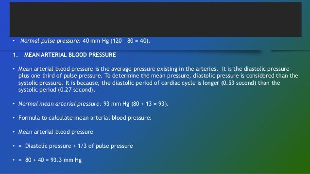 mean arterial blood pressure formula