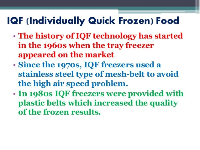 Individual quick freezing | vegetables | expense.