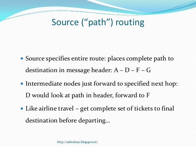Dynamic source routing Slide 3