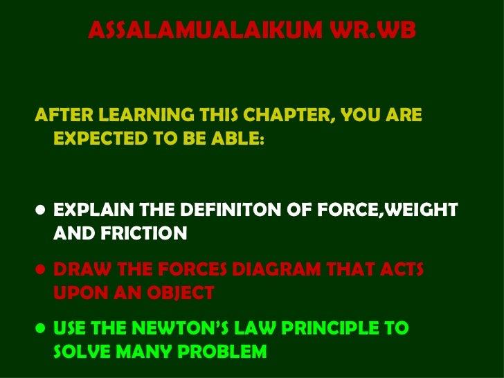 <ul><li>ASSALAMUALAIKUM WR.WB </li></ul><ul><li>AFTER LEARNING THIS CHAPTER, YOU ARE EXPECTED TO BE ABLE: </li></ul><ul><l...
