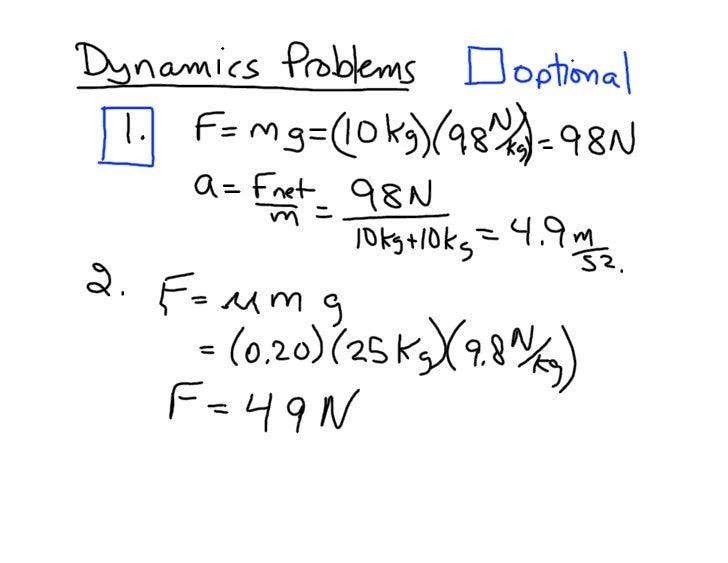 Dynamicsproblems