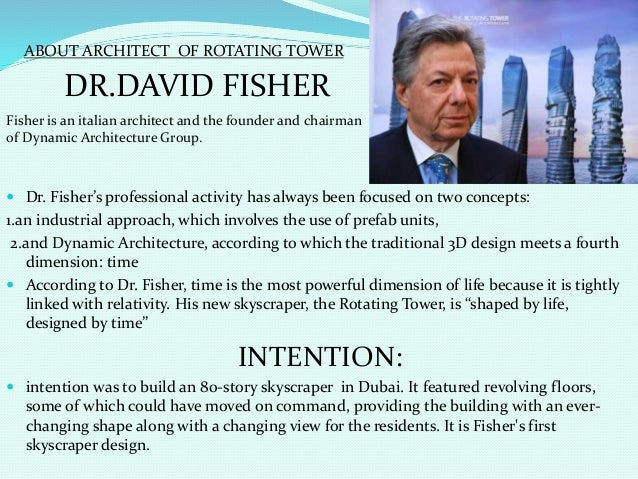 DYNAMIC/ DA VINCI/ROTATING TOWER,DUBAI Slide 2