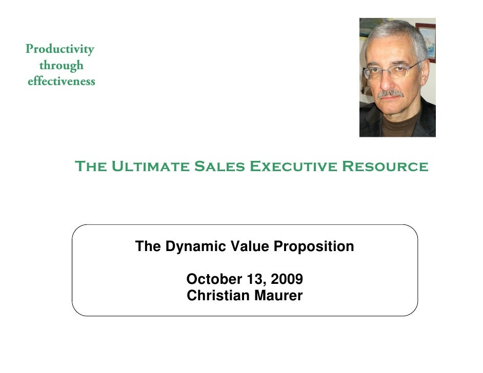 Productivity   through effectiveness                        The Ultimate Sales Executive Resource                         ...