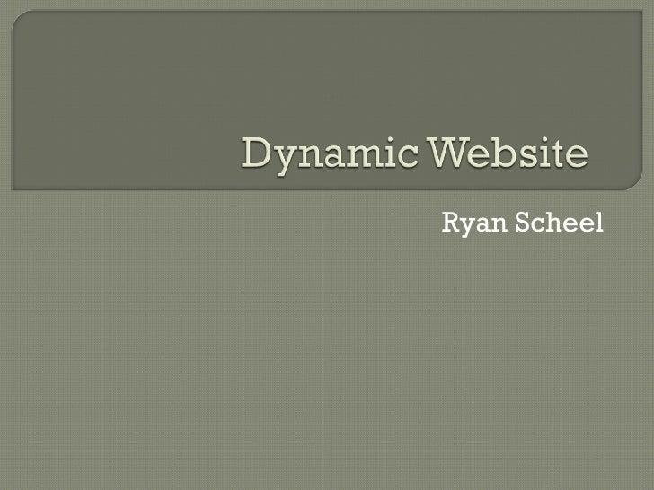 Ryan Scheel
