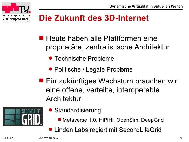 Dynamische virtuali t in der virtuellen welt - Dynamische architektur ...