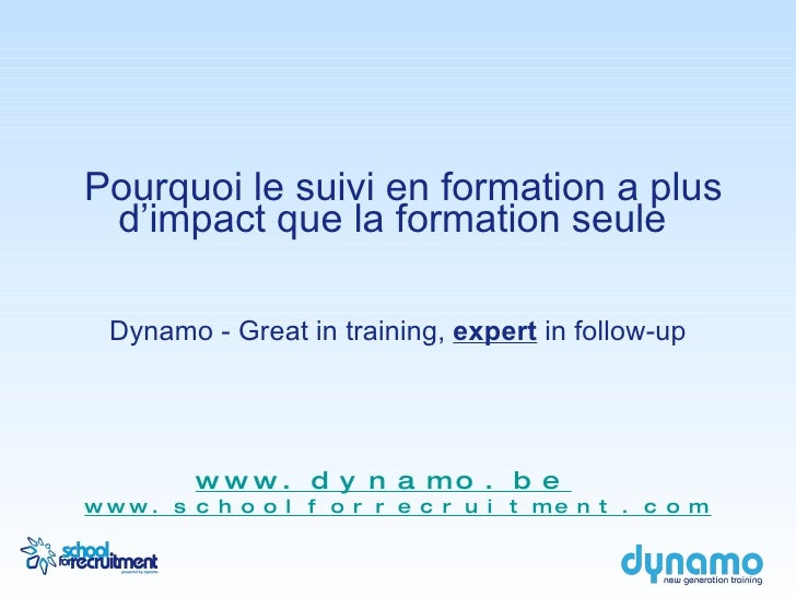 Pourquoi le suivi en formation a plus d'impact que la formation seule  Dynamo - Great in training,  expert  in follow-up <...