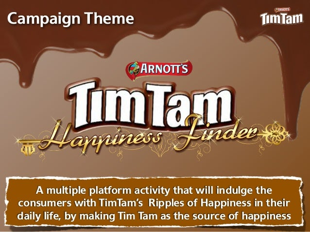 Campaign Theme     A multiple platform activity that will indulge the consumers with TimTam's Ripples of Happiness in thei...