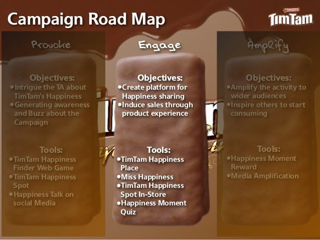 Campaign Road Map      Provoke                  Engage                  Amplify     Objectives:              Objectives:  ...