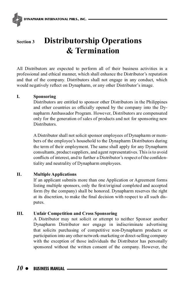 Dynapharm Business Manual
