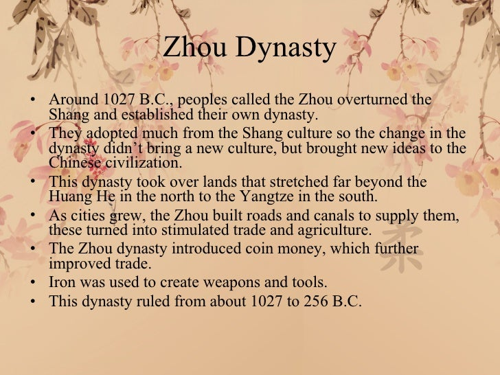 Dynasties Of China