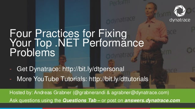 @Dynatrace - Get Dynatrace: http://bit.ly/dtpersonal - More YouTube Tutorials: http://bit.ly/dttutorials Hosted by: Andrea...