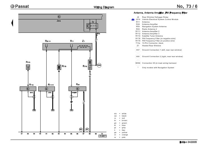 amp wiring diagram for 2006 passat