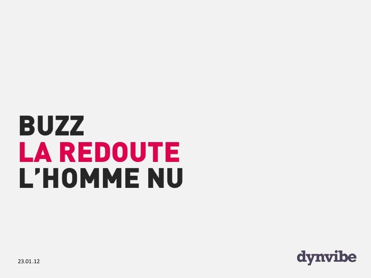 BUZZLA REDOUTEL'HOMME NU23.01.12
