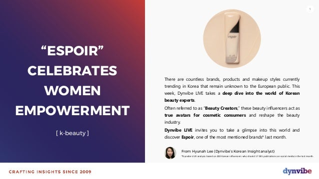 "111 ""ESPOIR"" CELEBRATES WOMEN EMPOWERMENT [ k-beauty ] There are countless brands, products and makeup styles currently tr..."