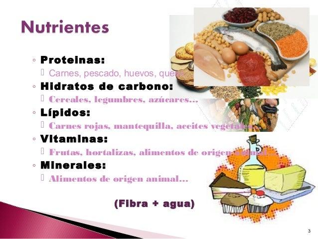 Come sano exposici n estudiantes de enfermer a - Alimentos hidratos de carbono ...