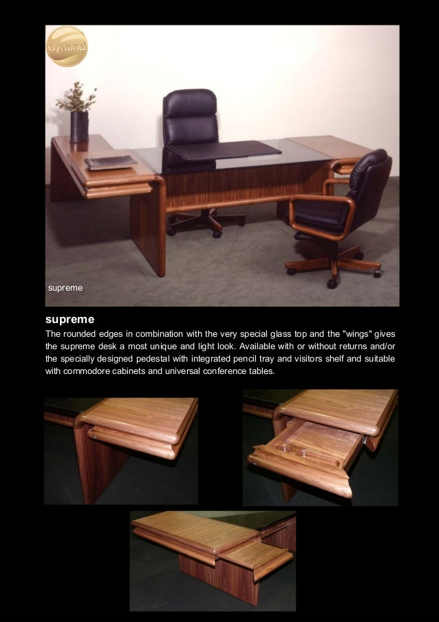 Executive Office Furniture Rosewood Desk - Desk conference table combination