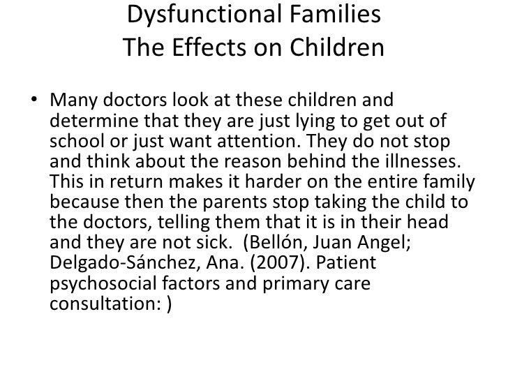 Dysfunctional Family and its Impact to the Teenagers Adjustment Essay Sample