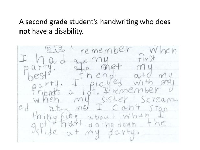 Dysgraphia Awareness Learning Disability 2015