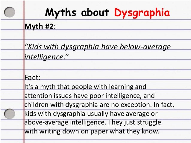 people with dysgraphia
