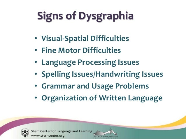 Writing Dysgraphia And The Human Brain
