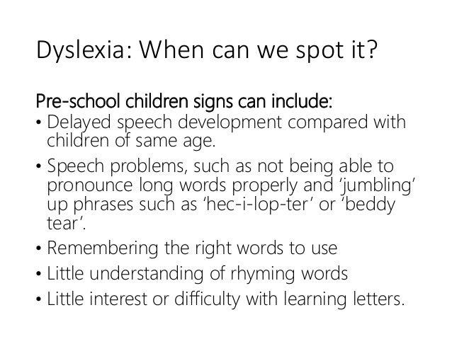Dyslexia: What works? Slide 3
