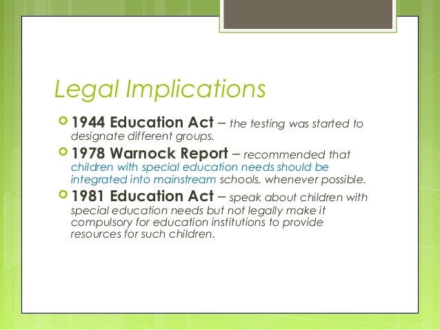 The education act 1981