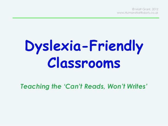 dyslexia and untidiness