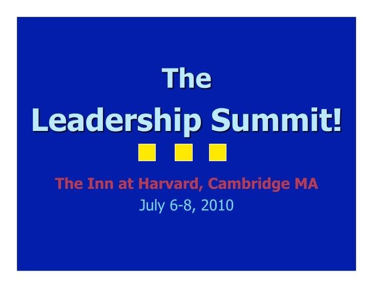 Next 3 days   Summit    2010